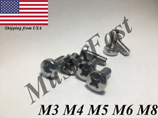 M3 M4 M5 M6 M8 Stainless Steel Phillips Pan Head Metric Screw 18-8  A2 DIN: 7985