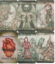 Molto RARO SEGRETO DEI TAROCCHI Dominic Murphy ART 78 carte Alchimia Occulto unico
