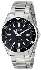 Bulova Men's 98B203 Marine Star Black Dial Stainless Steel Watch