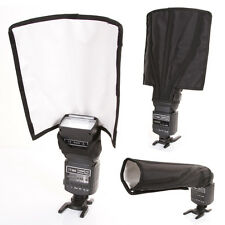 Foldable Flash Diffuser Reflector Snoot Softbox F Canon Nikon Yongnuo Speedlight