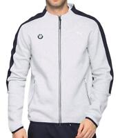 New Puma Bmw Motorsport Men's Premium MSP T7 Sweat Jacket Heather Gray 57277503