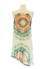 TopShop Women`s Multi Floral Asymmetric Hem Dress 04P41Y Size US 4  NWOT