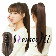 """16"""" -24""""Claw Clip in Ponytail 100% Real Remy Human Hair Extension"""