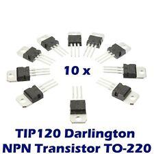 10 pcs TIP120 Darlington Transistor TO-220 NPN BJT ST for Arduino