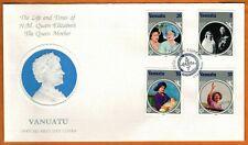 """VANUATU 1985 Very Fine FDC  """" The Queen Mother """""""