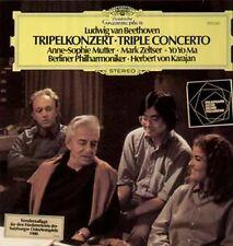 Yo Yo Ma, Anne-Sophie mère, ZELTSER, KARAJAN, BEETHOVEN-Tripel concert, LP