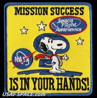 SNOOPY - MISSION SUCCESS IS IN YOUR HANDS! - SPACE FLIGHT AWARENESS - NASA PATCH