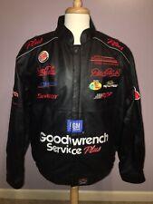 DALE EARNHARDT Leather Jacket w/ LOGOS Custom - Sz L