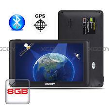 """XGODY 7"""" 256 MB di RAM Truck navigazione GPS per auto Bluetooth AV IN carta EU"""