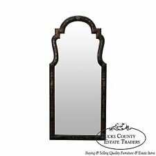 LaBarge Hand Painted Black & Gold Chinoiserie Hanging Wall Mirror