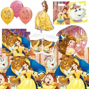 Belle Beauty and The Beast Party Supplies Tableware Decorations Balloons Wrap