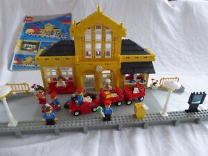Lego 4554 gelber bahnhof 9volt metro station incl bauanleitung