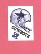 1983 Kellogg's DALLAS COWBOYS NFL Helmet Sticker Blank Back Version