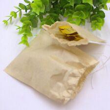 100Pcs Tea Filter Bags Disposable Drawstring Cotton Bag for Loose/Rose/Tea/Bags