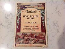 Vintage 1931 Rawleigh's Good Health Guide Almanac  -  Mark Scott, St Louis, Mich