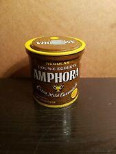 DOUWE EGBERTS AMPHORA ~ Vintage 6 oz. Brown Pipe Tobacco Tin ~ X Mild Cavendish