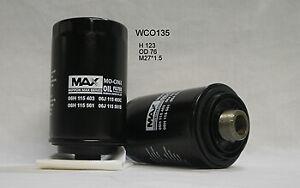 Wesfil Oil Filter WCO135 fits Skoda Yeti 1.8 TSI 4x4 (5L) 112kw, 1.8 TSI 4x4 ...