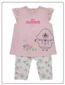 Baby Girls Hey Duggee Character Top & Leggings Outfit Pink White 12-24 Month NEW