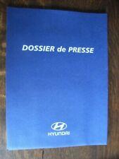 Hyundai  Pressemappe, Mondial de l'Automobile Paris 2000, F