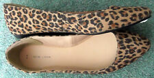 SIZE 9 (43) ANIMAL PRINT FLAT SHOES BRAND NEW LOOK