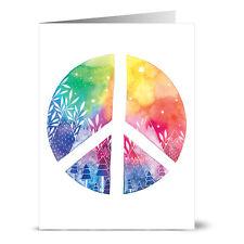 24 Note Cards - Rainbow Peace - Lilac Purple Envs