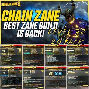 """XBOX/PC LEVEL 72🔥""""CHAIN ZANE"""" 2021 BUILD🔥 MOXSY 20 PACK M10 BORDERLANDS 3"""