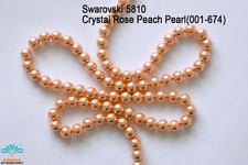 50 Beads Swarovski #5810 Crystal Rose Peach Pearl 001-674