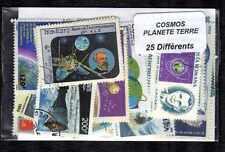 Planète Terre - Planet Earth 25 timbres différents oblitérés