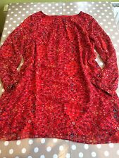 primark Size 18 atmosphere Red Floral Tunic dress