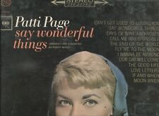 "PATTI PAGE - SAY WONDERFUL THINGS on 12"" LP"