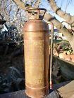 Antique Buffalo Copper & Brass Foam Fire Extinguisher Rivited Seams- It Is Empty
