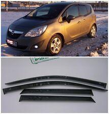 For Opel Meriva B 2011-2016 Side Window Visors Sun Rain Guard Vent Deflectors