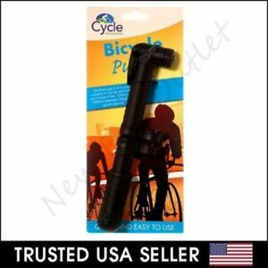 Bicycle Bike Compact Light Portable Hand Air Pump Tire Inflator Attach to Frame