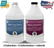 1 Gallon Kit Tools Crystal Clear Bar Table Top Epoxy Resin Coating Wood Tabletop