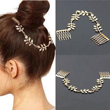 Crystal Pearls Leaf Hair Clip Wedding Bridal Hair Pin Hairpin Clip Headband Comb