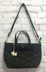 Black Padded Radley Handbag with Shoulder Strap and Spotty Scotty (LP120F)