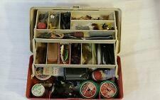 Vintage 5520 Plano Tackle Box Fishing Gear Lures Orange Tool Chest Plastic RARE