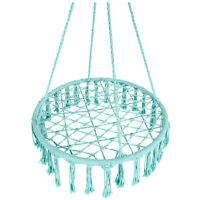BCP Indoor/Outdoor Handwoven Cotton Macrame Hammock Hanging Chair Swing