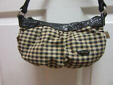 Longaberger Khaki Check Fabric Girls Purse
