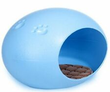 Cute Egg-Shaped Pet House Puppy Doggie Cat Small Animal Indoor Bed, blue.