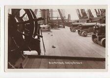 Quarterdeck Looking Forward HMS Victory Vintage RP Postcard 255a