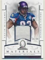 2014 Panini National Treasures Pro Bowl Materials #29 Kevin Williams Jersey /99