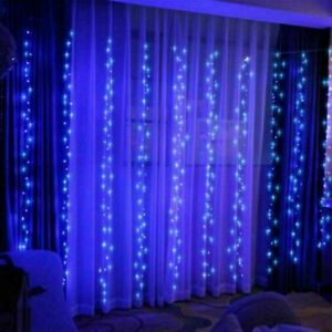 USB Curtain Fairy String Hanging Backdrop Wall Lamp Wedding Xmas Party Lights 3M