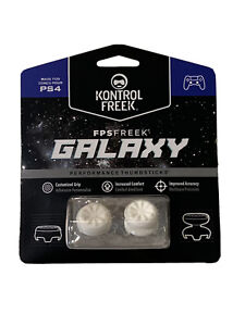 KontrolFreek Galaxy Thumbsticks for PS4 PS5 New White FPS Freek PlayStation
