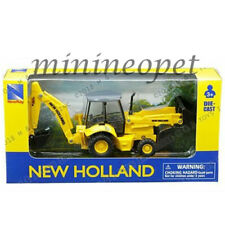"""NEW RAY 32143 5"""" NEW HOLLAND CONSTRUCTION BACKHOE AND LOADER B110C YELLOW"""