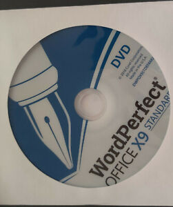 Corel WordPerfect Office X9 Standard Edition WPOX9STDEFMBAM DVD PC Disc