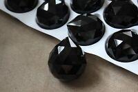 VINTAGE (15)  Faceted Crystal Chandelier 40mm Prism BLACK  SO CHIC!!