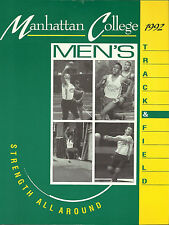VINTAGE 1991 - 1992 MANHATTAN COLLEGE MEDIA GUIDE - TRACK AND FIELD - ATHLETICS