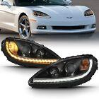 ANZO USA 121553 Projector Headlight Set w/Halo For 2005-2013 Chevrolet Corvette  for sale