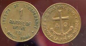 Medaille  1 Rappel de Notre Foi - Noel 1966